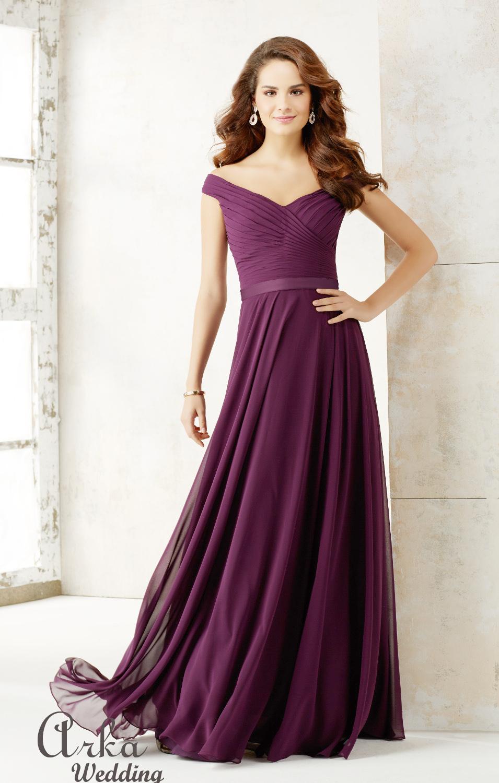 Φόρεμα Chiffon Αέρινο, Ριχτοί ώμοι. Κωδ. 21523