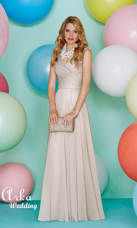 Chiffon Φόρεμα με Κρουαζέ Mπουστάκι. Κωδ. 29163