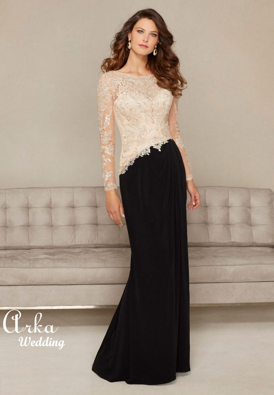 Jersey Φόρεμα με Κεντημένη Δαντέλα. Κωδ. 71310