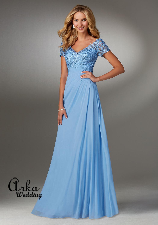 Βραδινό Φόρεμα Strech, με Δαντέλα Μπούστο, Κωδ. 71513