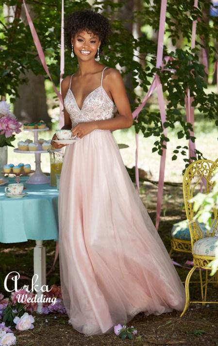 c6f308265c97 Φόρεμα Βραδινό Μακρύ Soft Tulle. Κωδ. 99103