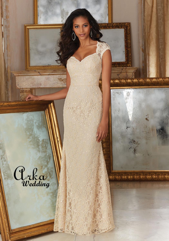 Νυφικό Φόρεμα, Elegant Κεντημένη Δαντέλα. Κωδ.143