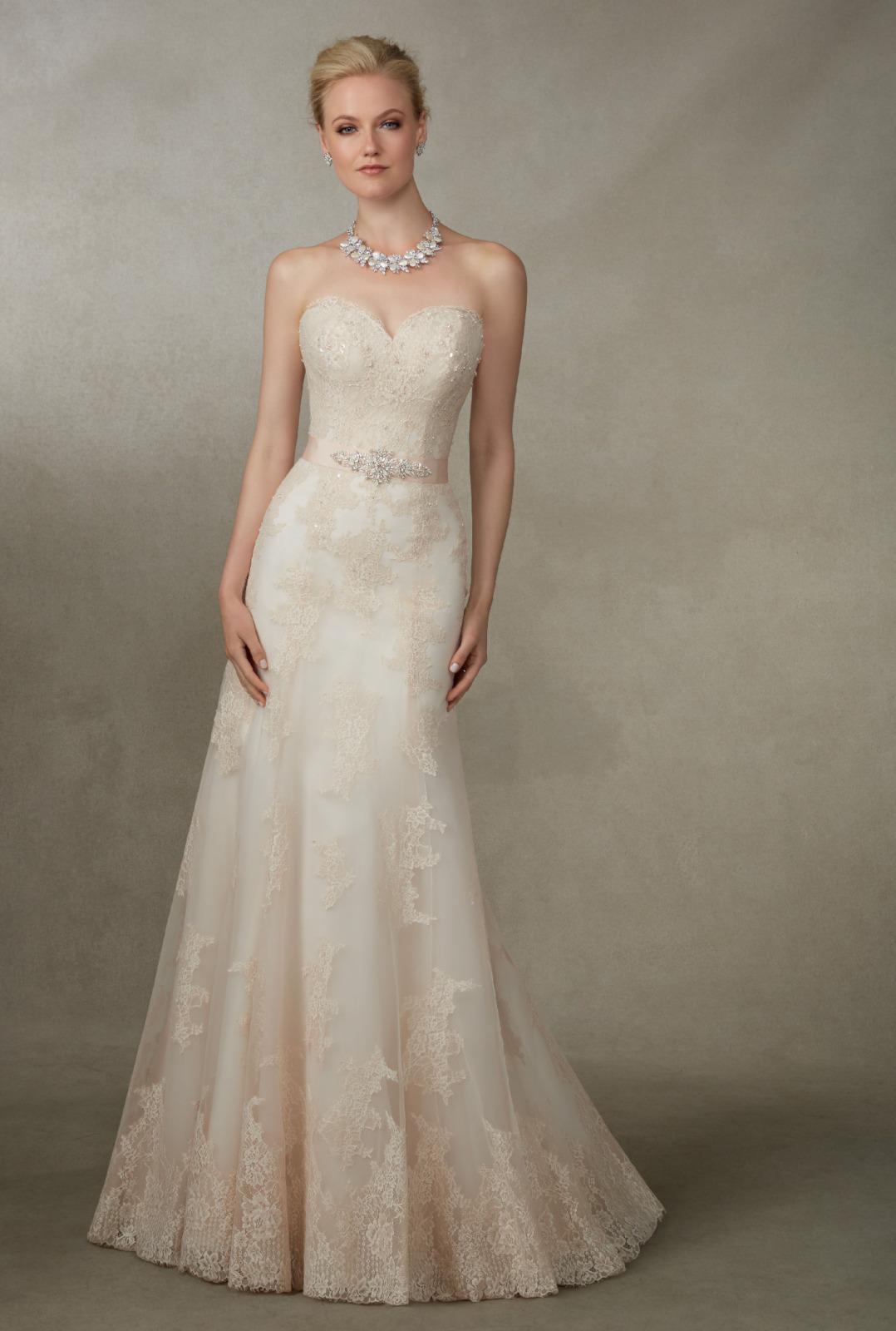 Νυφικό Φόρεμα, Ronald Joycem Δαντέλα, Strapless.Style. 18004