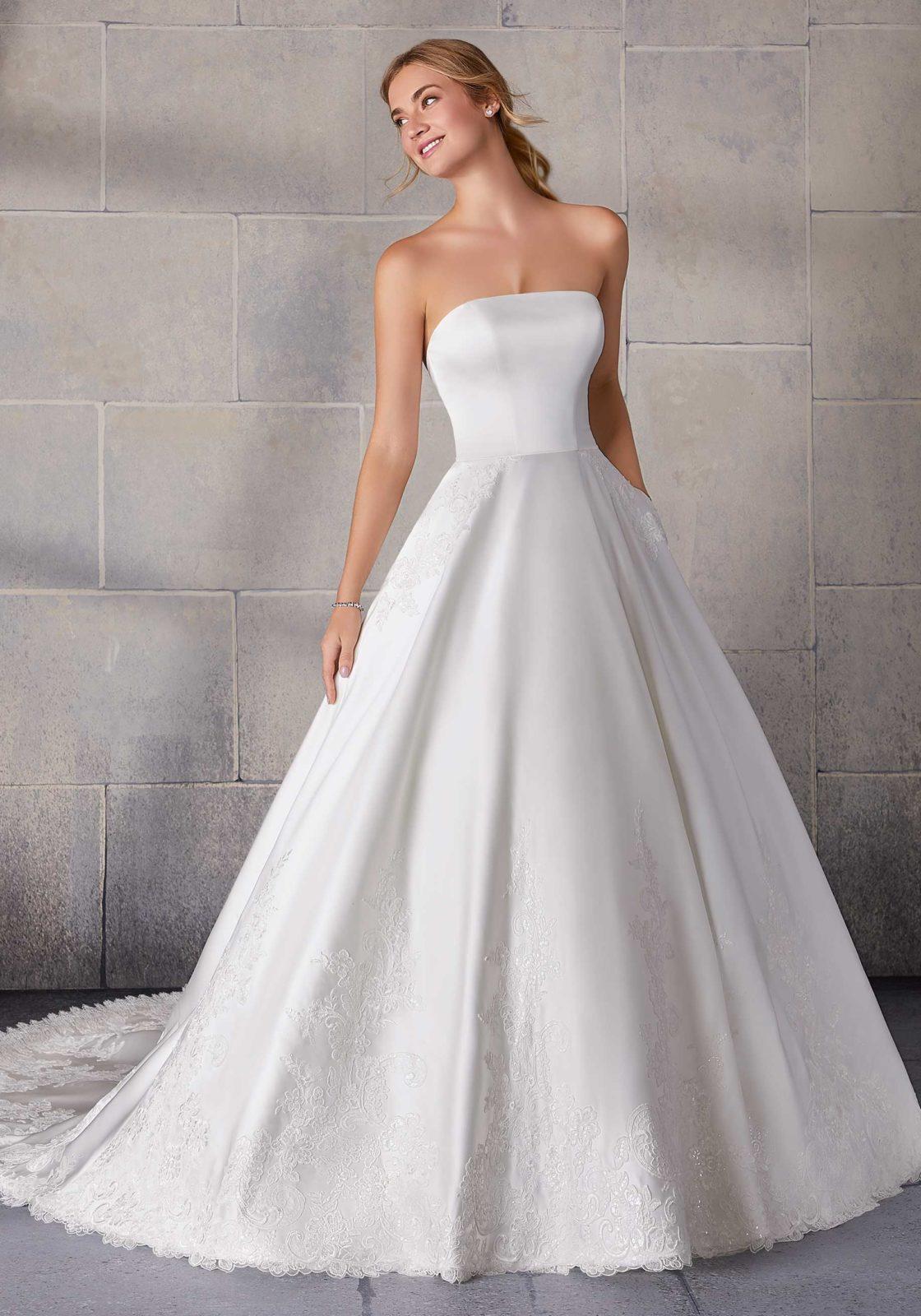 Νυφικό Φόρεμα, Morilee, Duchess Satin. Style,  2134