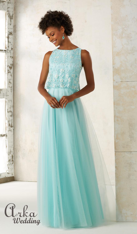 Βραδινό Φόρεμα, με Κέντημα floral . Κωδ. 21511
