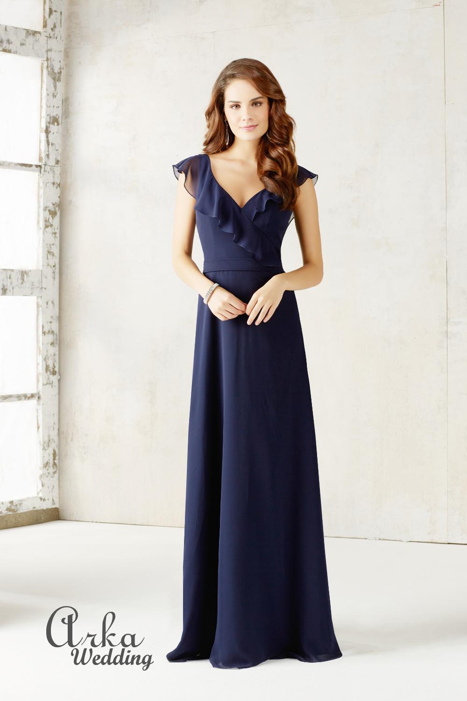 Βραδινό Μακρύ Φόρεμα Chiffon. Κωδ. 21527