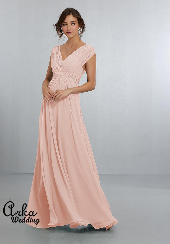 Βραδινό Φόρεμα Μακρύ, Ανάλαφρο, Αέρινο, από Chiffon. Κωδ. 21567
