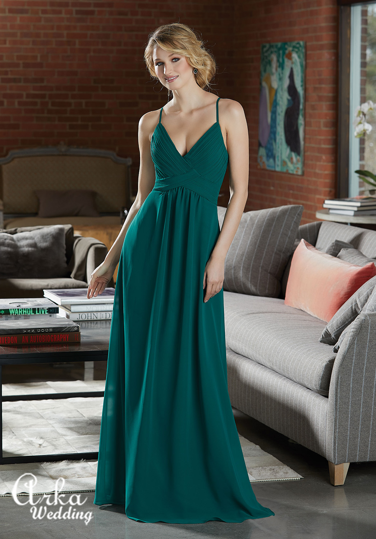 Βραδινό Μακρύ Φόρεμα Chiffon Κωδ. 21586