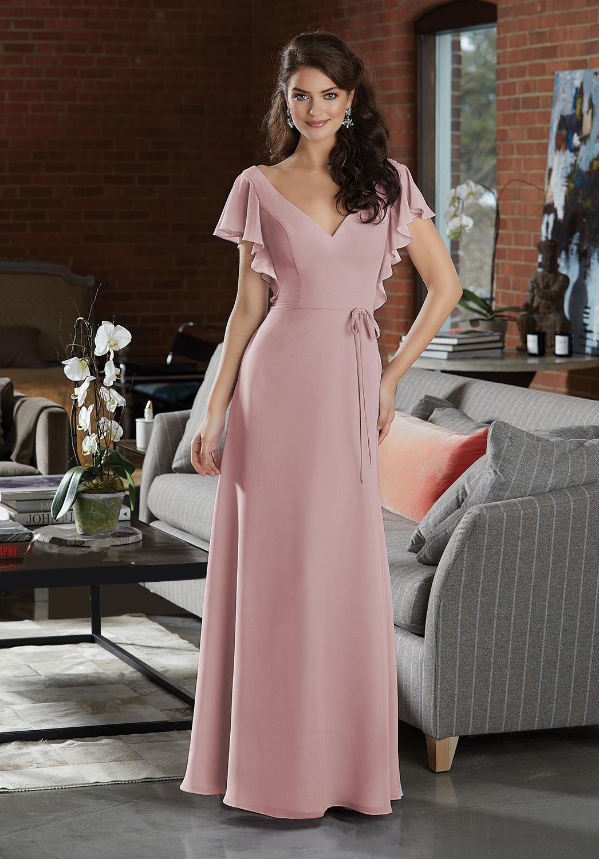 Boho Βραδινό Φόρεμα, Morilee, Chiffon, Style, 21591