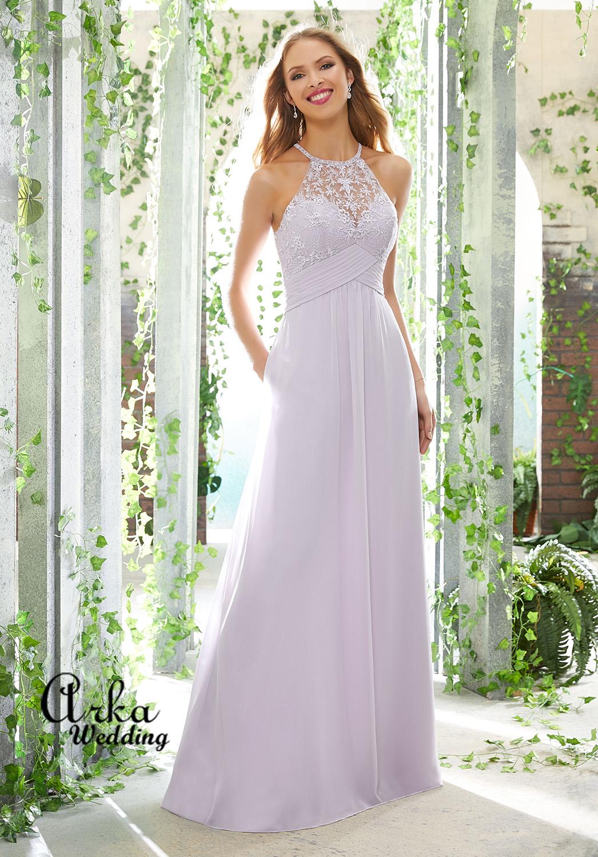 Φόρεμα  Floral Embroidery και Chiffon. Κωδ. 21604