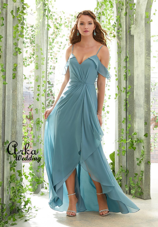 Φόρεμα Chiffon, δροσερό, Βραδινό Κωδ. 21615