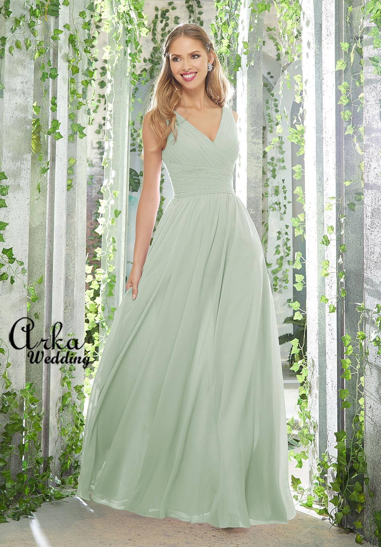 Φόρεμα Βραδινό Μακρύ, Chiffon Α Γραμμή. Κωδ. 21621