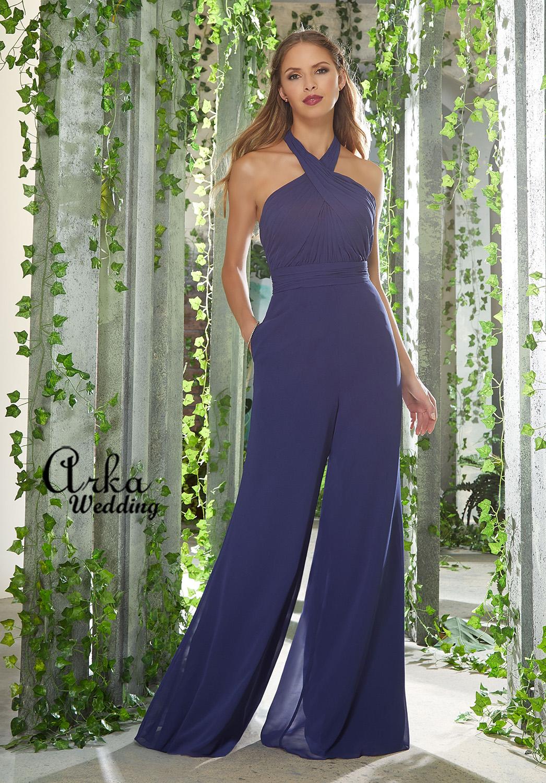Βραδινο Φόρεμα-Φόρμα Chiffon, με Draped Μπούστο. Κωδ. 21626