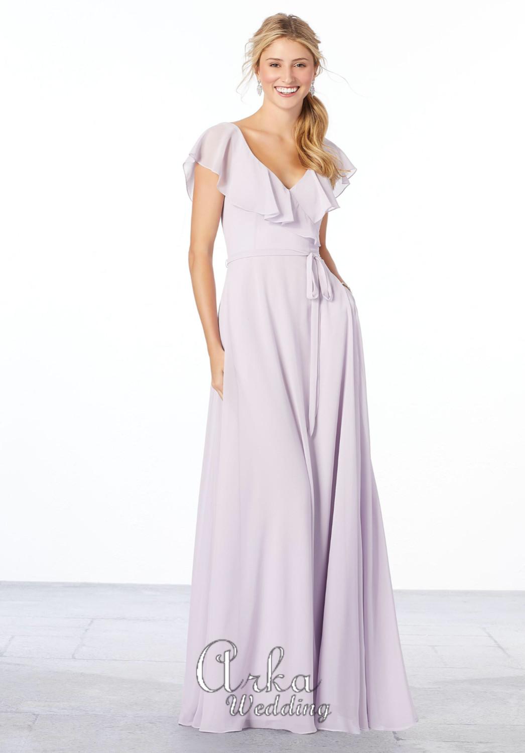 Βραδινό Φόρεμα Μακρύ, Chiffon . Κωδ,. 21657