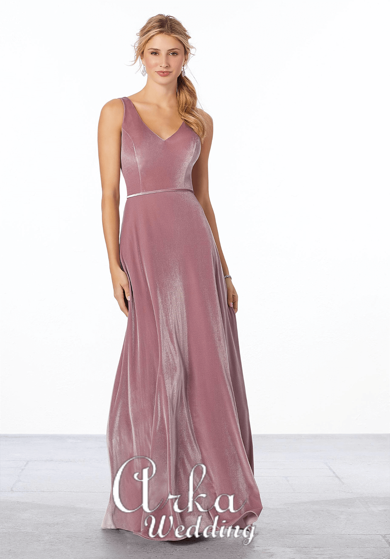 Βραδινό Φόρεμα Stretc Velvet. Κωδ. 21669