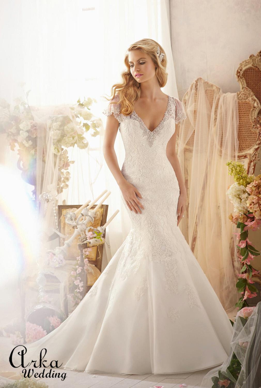 Νυφικό Φόρεμα, Δαντέλα, με Μπολερό.. Κωδ. 2613