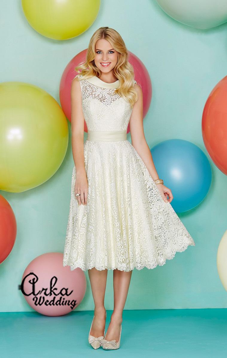 Νυφικό Φόρεμα, Κοντό, χαριτωμένο, νεανικό . Κωδ. 29159