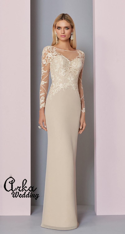 453c9150c8b Νυφικό Φόρεμα Στενό Chiffon, με Δαντέλα Μπούστο. Κωδ. 29307