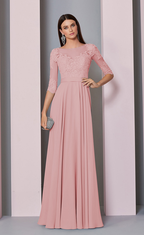 Βραδινό Φόρεμα,Ronald Joyce, Chiffon και Δαντέλα, Style. 29308