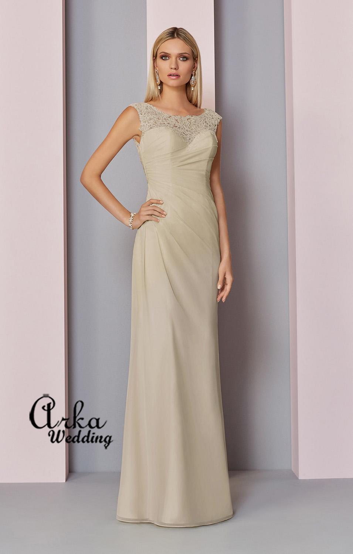 Βραδινό Φόρεμα, Μακρύ με Δαντέλα και corset style στην Πλάτη. Κωδ. 29317