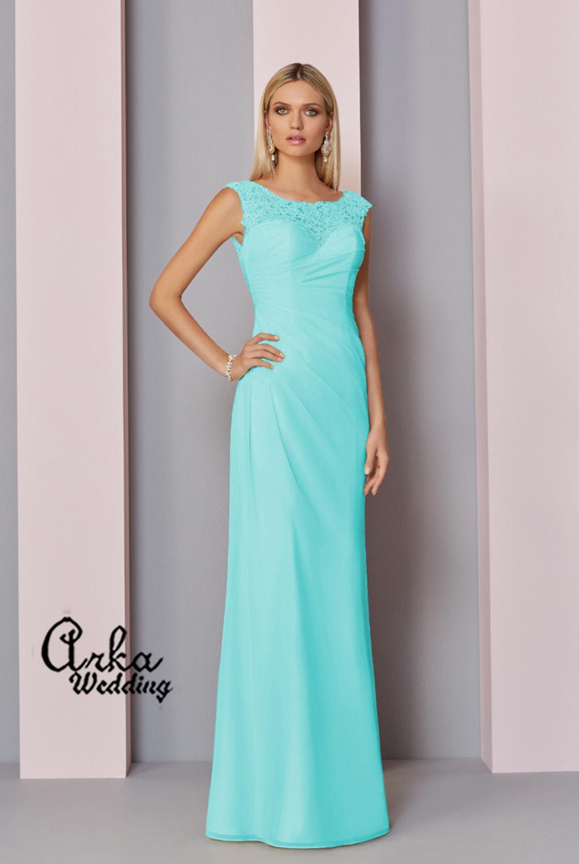 Βραδινό Φόρεμα Μακρύ Δαντέλα και Chiffon. Κωδ. 29317a
