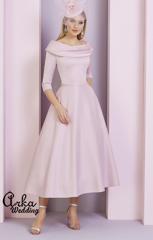 Φόρεμα Crepe με Bateau γραμμή Λαιμού. Κωδ. 29333