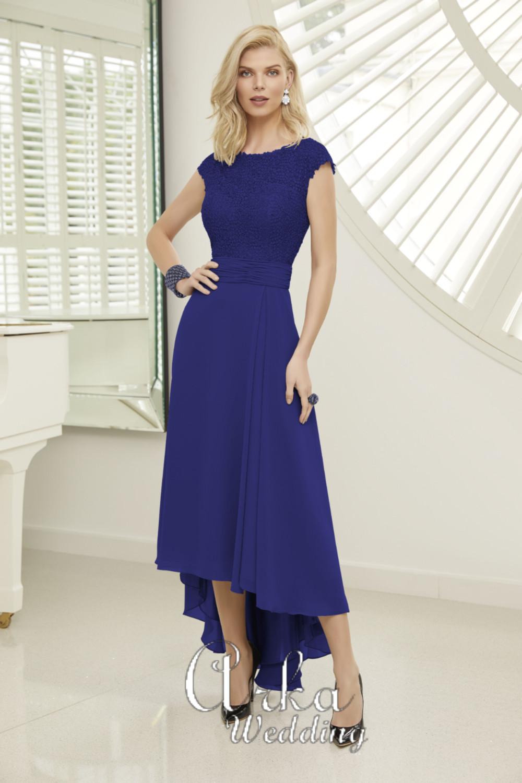 Βραδινό Φόρεμα, από Δαντέλα Κεντημένη και Chiffon. Κωδ. 29411