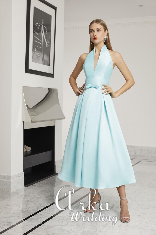Βραδινό Κοντό Φόρεμα, Micado, σε Χρώμα Mint. Κωδ. 29439