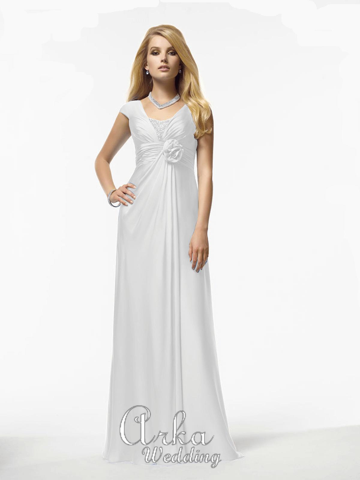 Νυφικό Φόρεμα, Χωρίς Ουρά, με Κέντημα. Κωδ. 29914