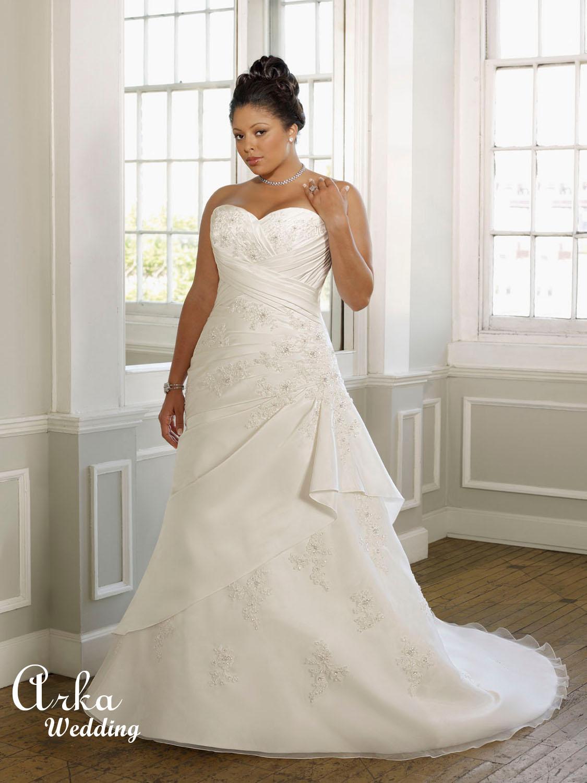 Νυφικό Φόρεμα Plus Size σε Γραμμή Αλφα. Κωδ. 3094