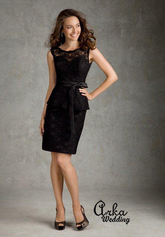 Φόρεμα Βραδινό, Μαύρη Δαντέλα. Κωδ. 31036