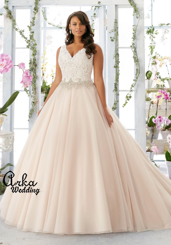 Νυφικό Φόρεμα, για Κομψή Παχουλή  Κωδ. 3198