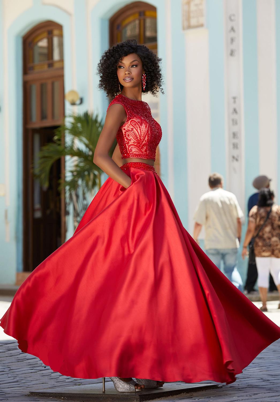 Βραδινό Φόρεμα, Morilee, Top Crop, από Larissa Satin,. Style,. 42051