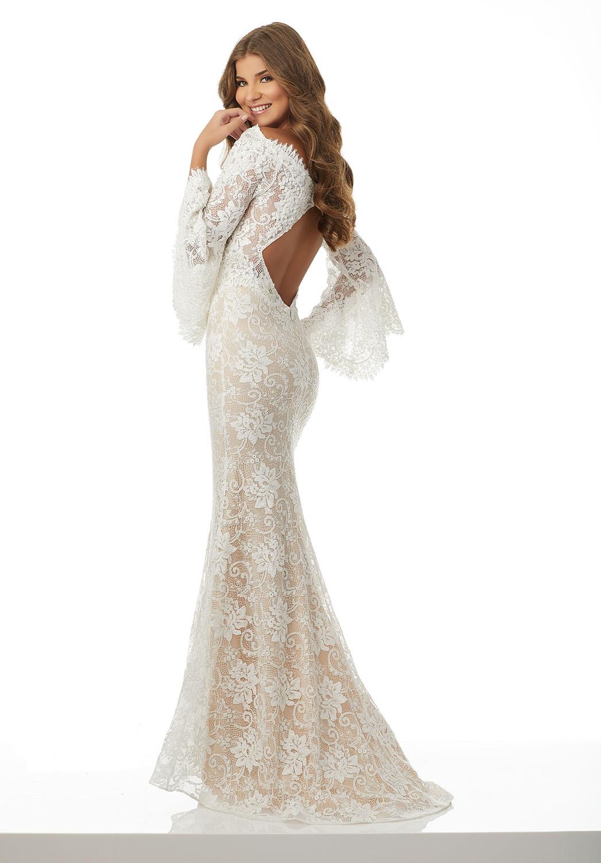 Νυφικό Φόρεμα, από Δαντέλα Γοργονέ Ολόσωμη, Morilee, by Madeline Gardner, Style 42082