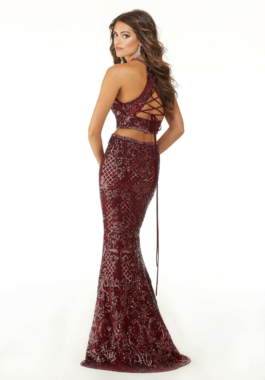 Φόρεμα Βραδινό, Στενό, Top Crop, Λαμπερό, με Παγιέτες. Morilee , by Madelne Gardner. Style. 45038