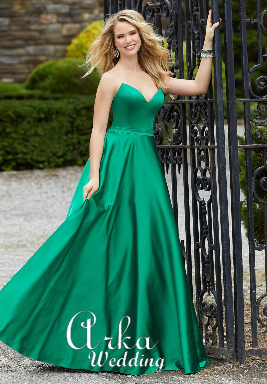 Βραδινό Φόρεμα, Satin, Στράπλες. Κωδ. 45043