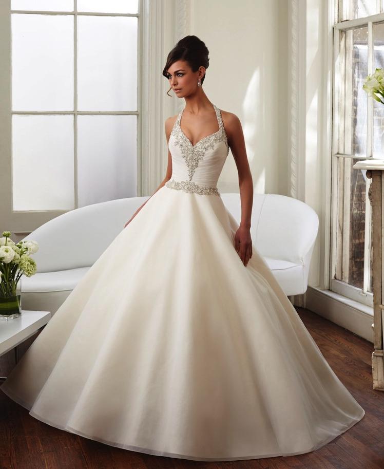 Νυφικό Φόρεμα, Morilee, Satin, με Κέντημα. Style, 51023