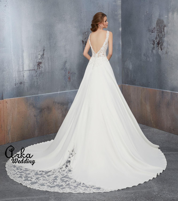 Νυφικό Φόρεμα, σε Γραμμή Άλφα, Δαντέλα Μπούστο Κωδ. 51504