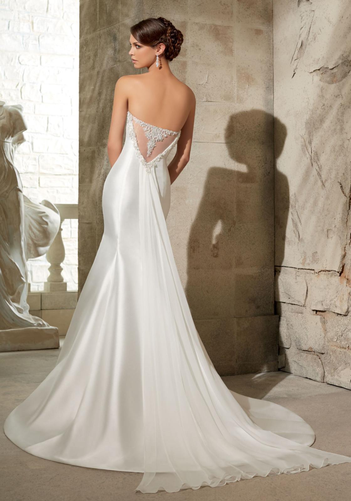 Νυφικό Φόρεμα, MORILEE, Larissa Satin, Κεντημένο, Style. 5304