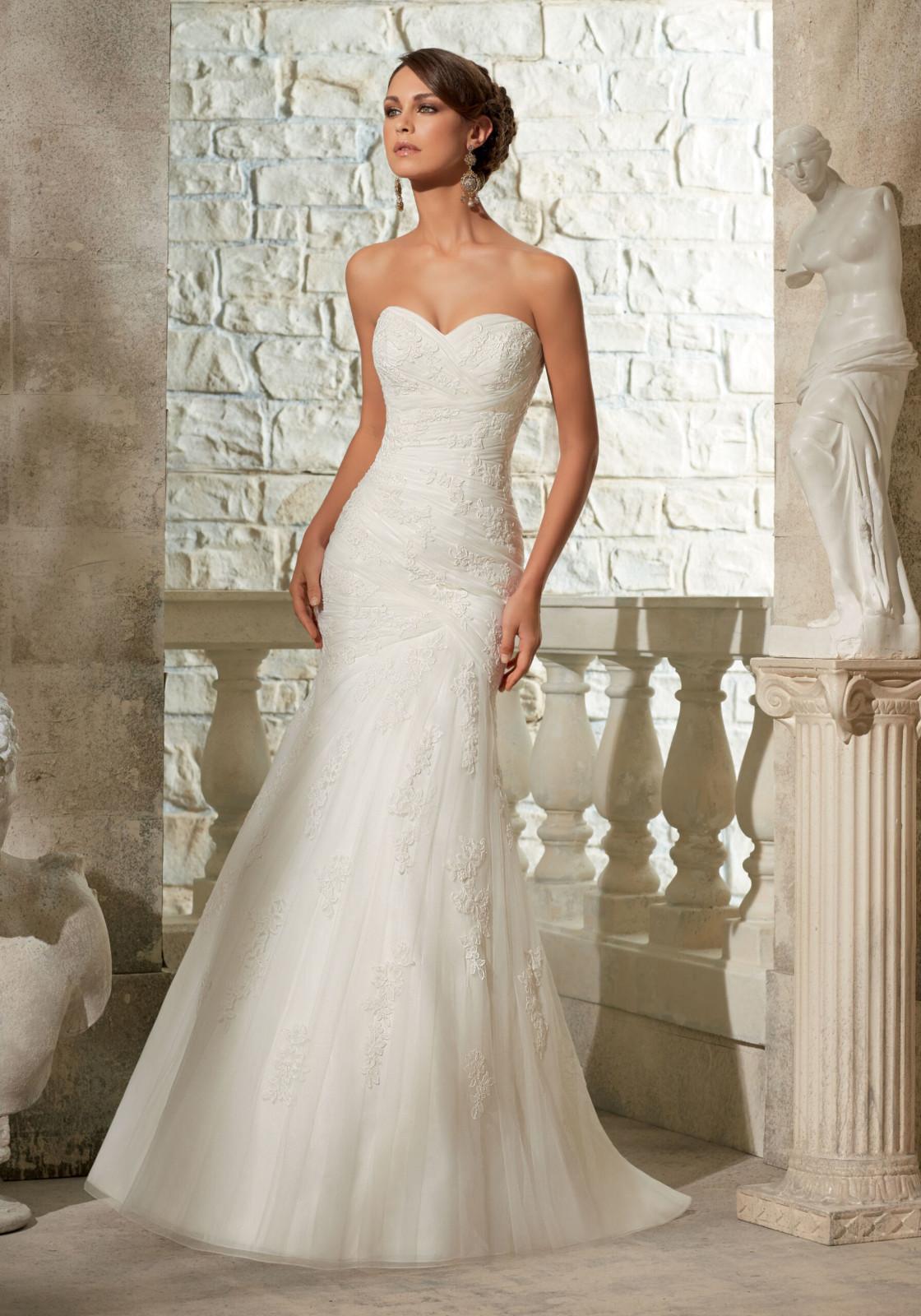 Νυφικό Φόρεμα, Morilee, Asymmetrically Draped, Γοργονέ, Δαντέλα Κεντημένη. Style, 5309