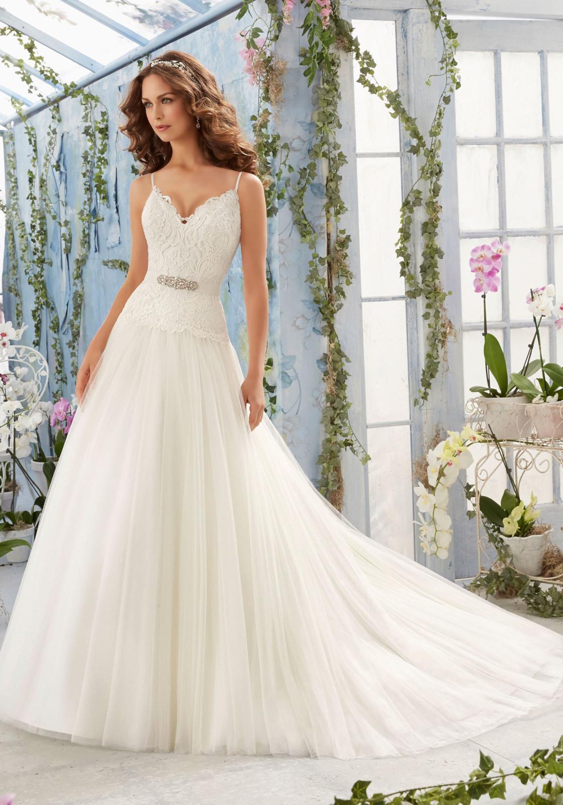 Νυφικό Φόρεμα, MORILEE, με Πλούσια Φούστα, Style. 5411