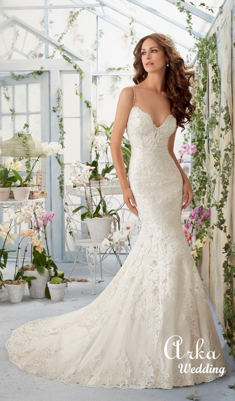 7310bf5e235 Νυφικό Φόρεμα, Δαντέλα, Γοργονέ, με Καρδούλα Μπούστο. Κωδ. 5415