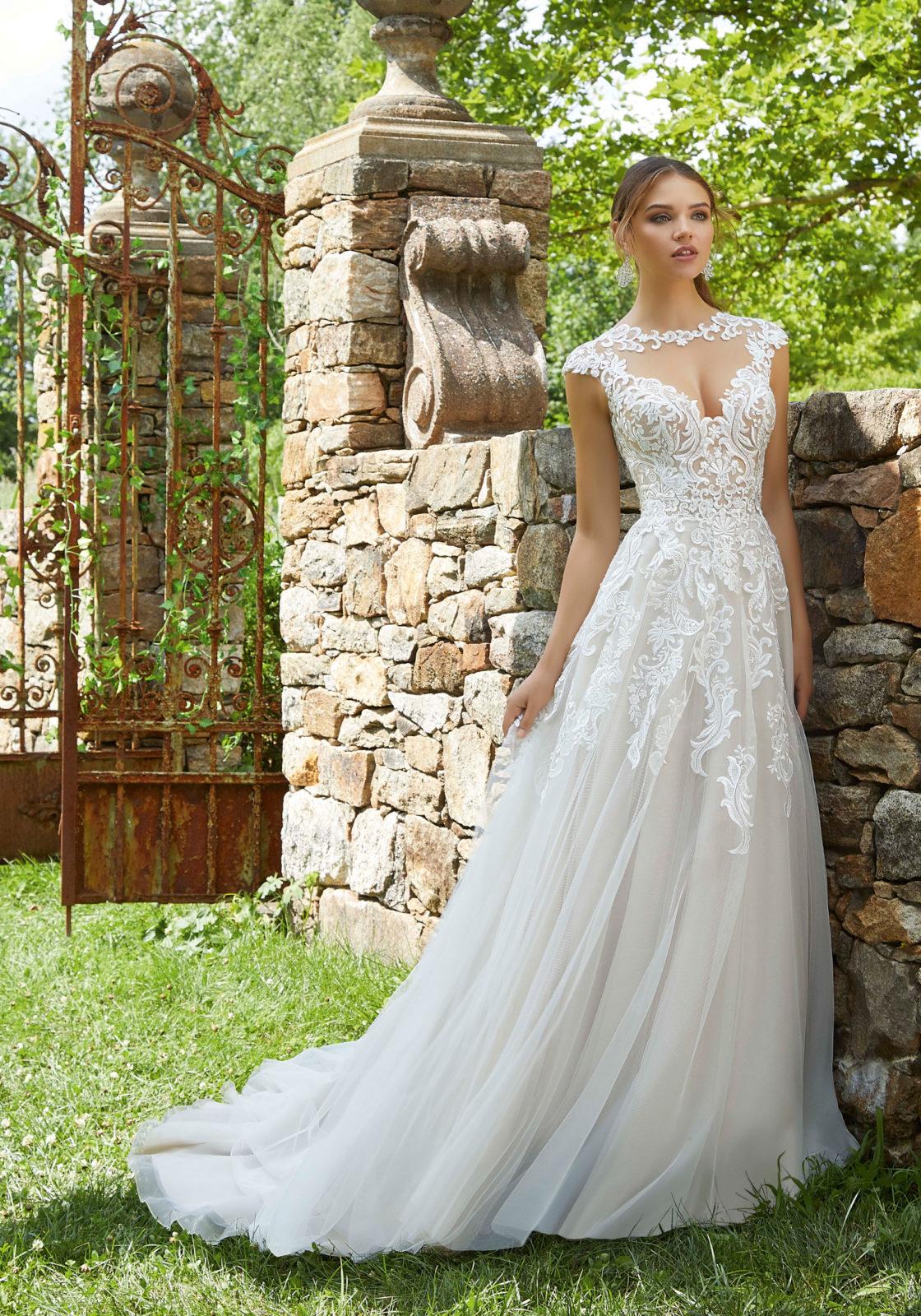 Νυφικό Φόρεμα, Lace Appliqués, Morilee, Αέρινο, Style. 5715