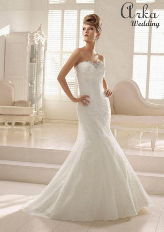 Νυφικό Φόρεμα Δαντέλα Κεντημένη με Κρύσταλλα. Κωδ. 66027
