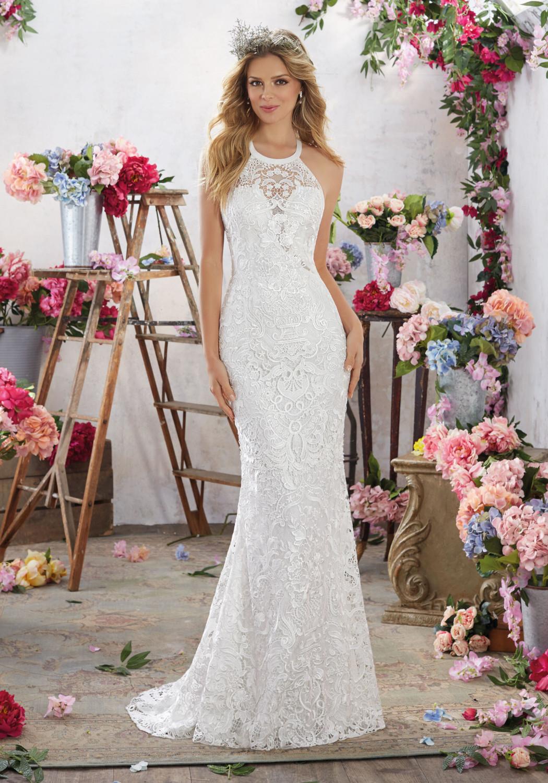 Νυφικό Φόρεμα, Morilee, Guipure Lace, Style. 6851
