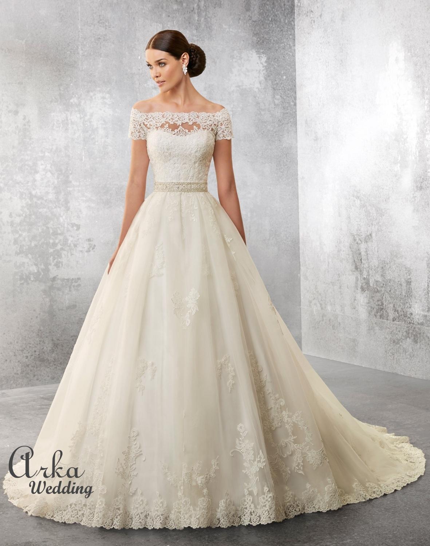 Νυφικό Φόρεμα vintage , Δαντέλα με Μανικάκι. Κωδ. 69166
