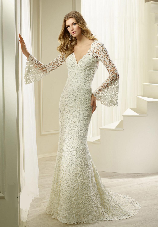 Νυφικό Φόρεμα, Δαντέλα, με Μανίκια. Κωδ. 69265