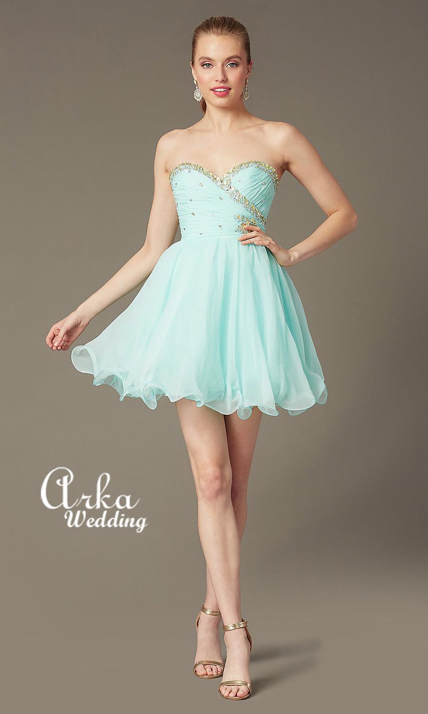 Βραδινό Φόρεμα Κοντό, Κεντημένο με Κρύσταλλα. Κωδ. 9212