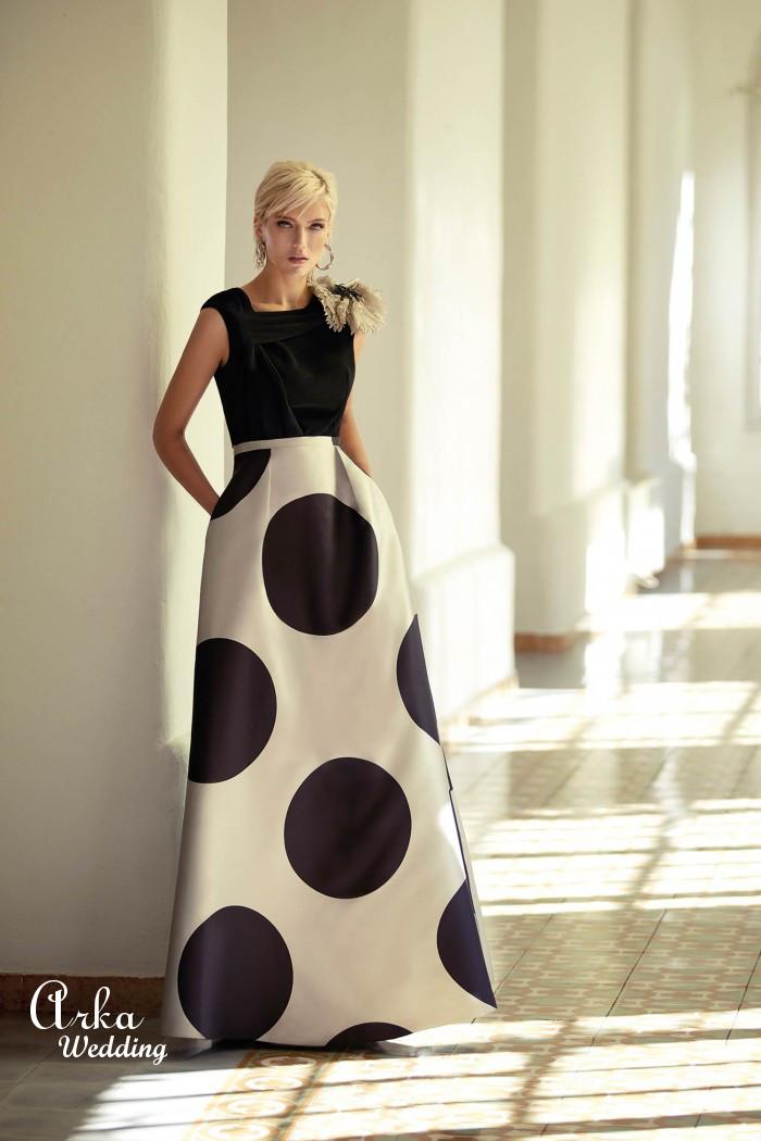 Φόρεμα Μακρύ Μοντέρνο δύο Χρώματα. Κωδ. 93536
