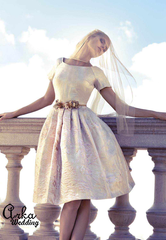 Φόρεμα Μπροκάρ Δίχρωμο. Κωδ. 93638